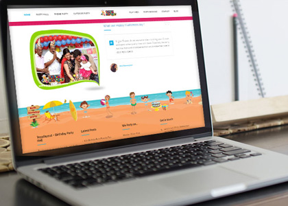 kids website design